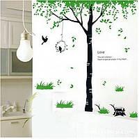 """Наклейка на стену, виниловые наклейки, украшения стены """"дерево любви"""" (лист 50*70см) высота дерева 80см"""