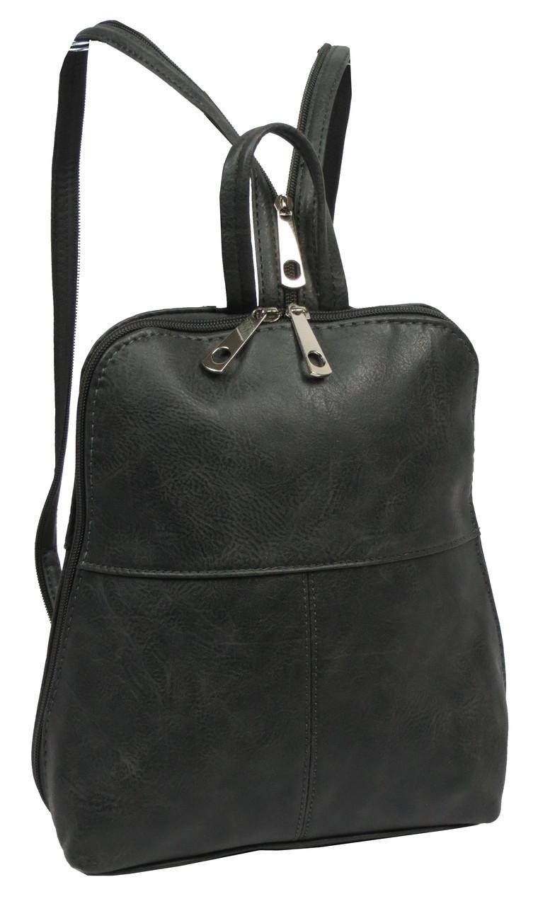 Женский рюкзак из эко кожи 4U Cavaldi серый 6 л