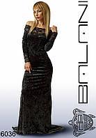 Женское длинное элегантное платье со скидкой, одежда от производителя   -  6036 р-р S   M   L   XL