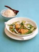 Карри курица с цуккини и зеленой фасолью