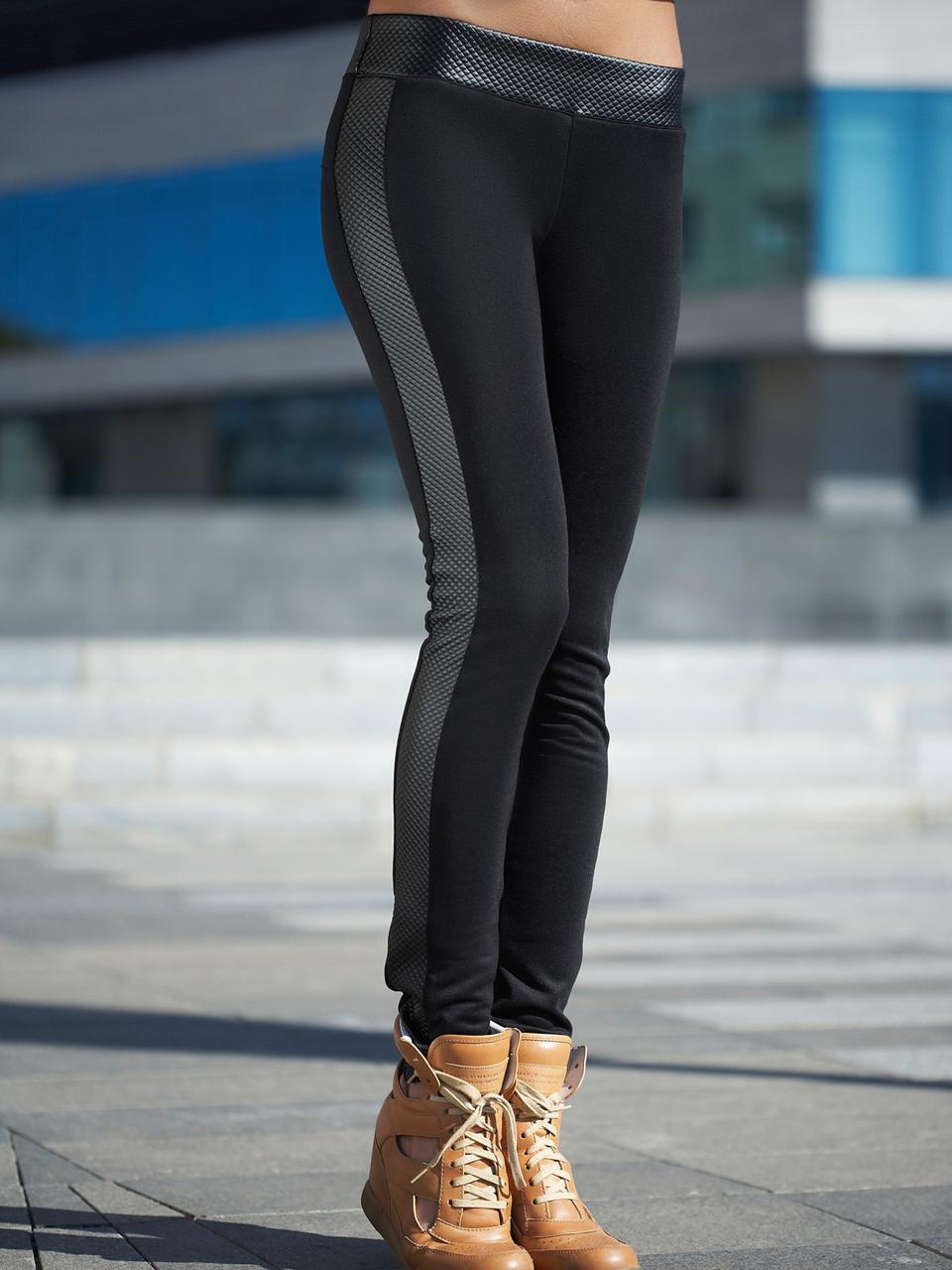 Черные женские лосины