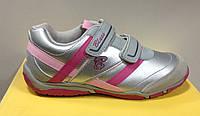 Кроссовки для девочки СHICCO серебро с розовым BRICIOLA