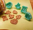 Набор из 4-х пластиковых фигурных формочек для вырезания печенья с поршнем  Fissman, фото 3