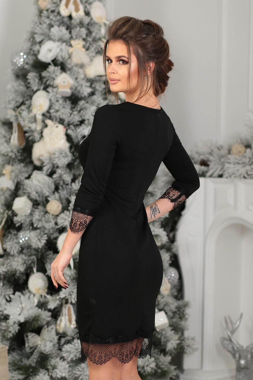 57e9521cb71 Платье трикотажное Муара в черном цвете  продажа