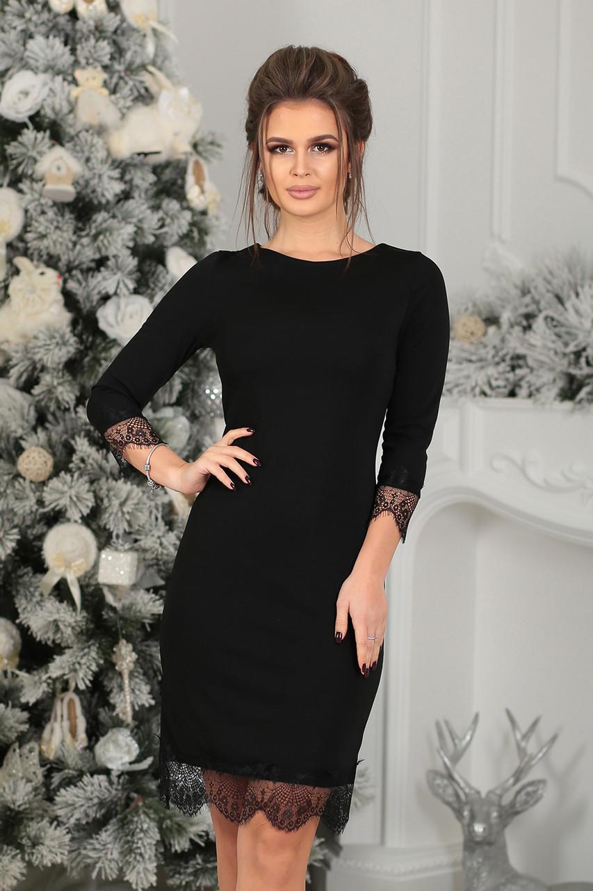 Платье трикотажное Муара в черном цвете  продажа, цена в Одессе ... 613d9dc868a