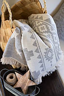 Плед-накидка Barine Wool Rug Throw серый 130*170
