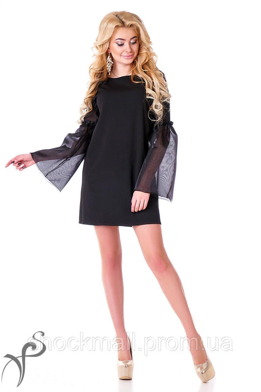 80e41df1b06ca5c Маленькое черное платье с прозрачными рукавами