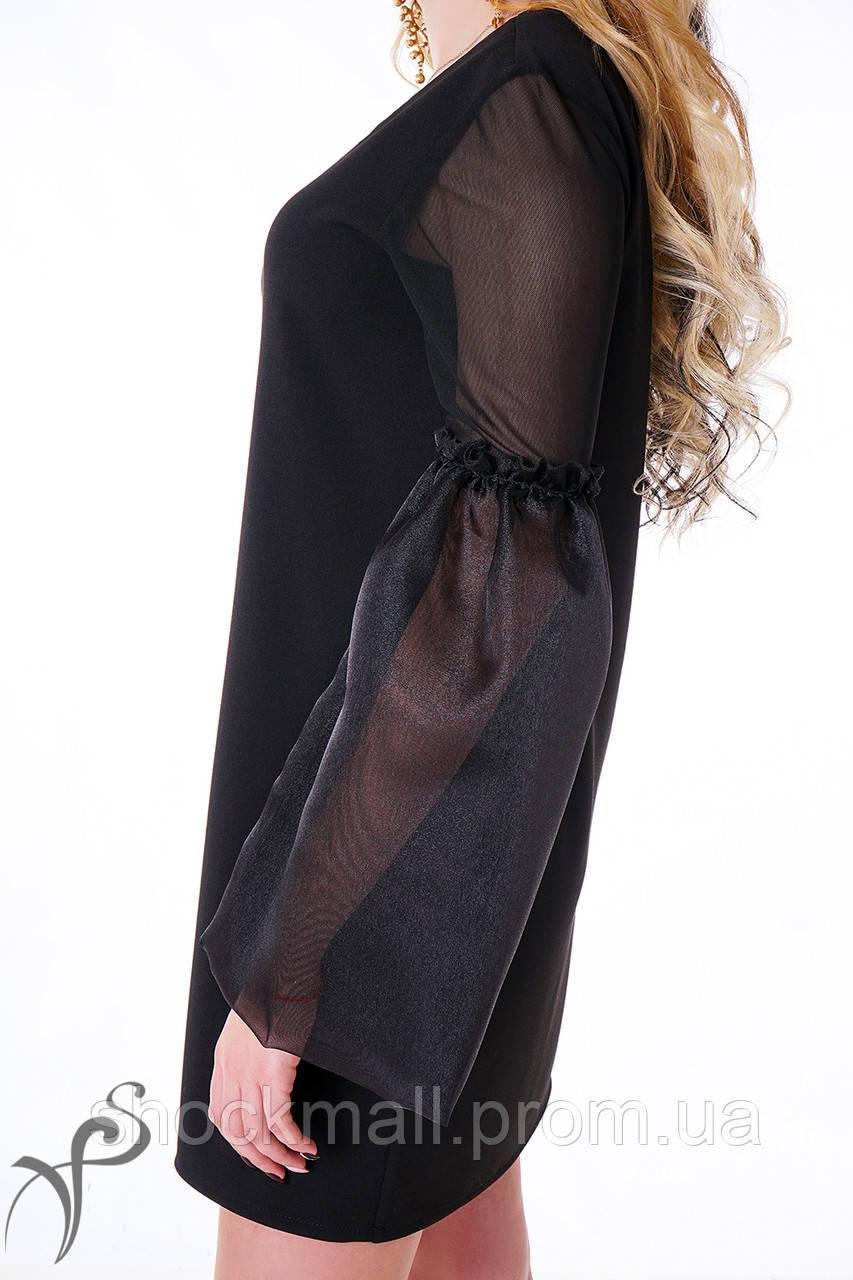 465318615146c0b Маленькое черное платье с прозрачными рукавами