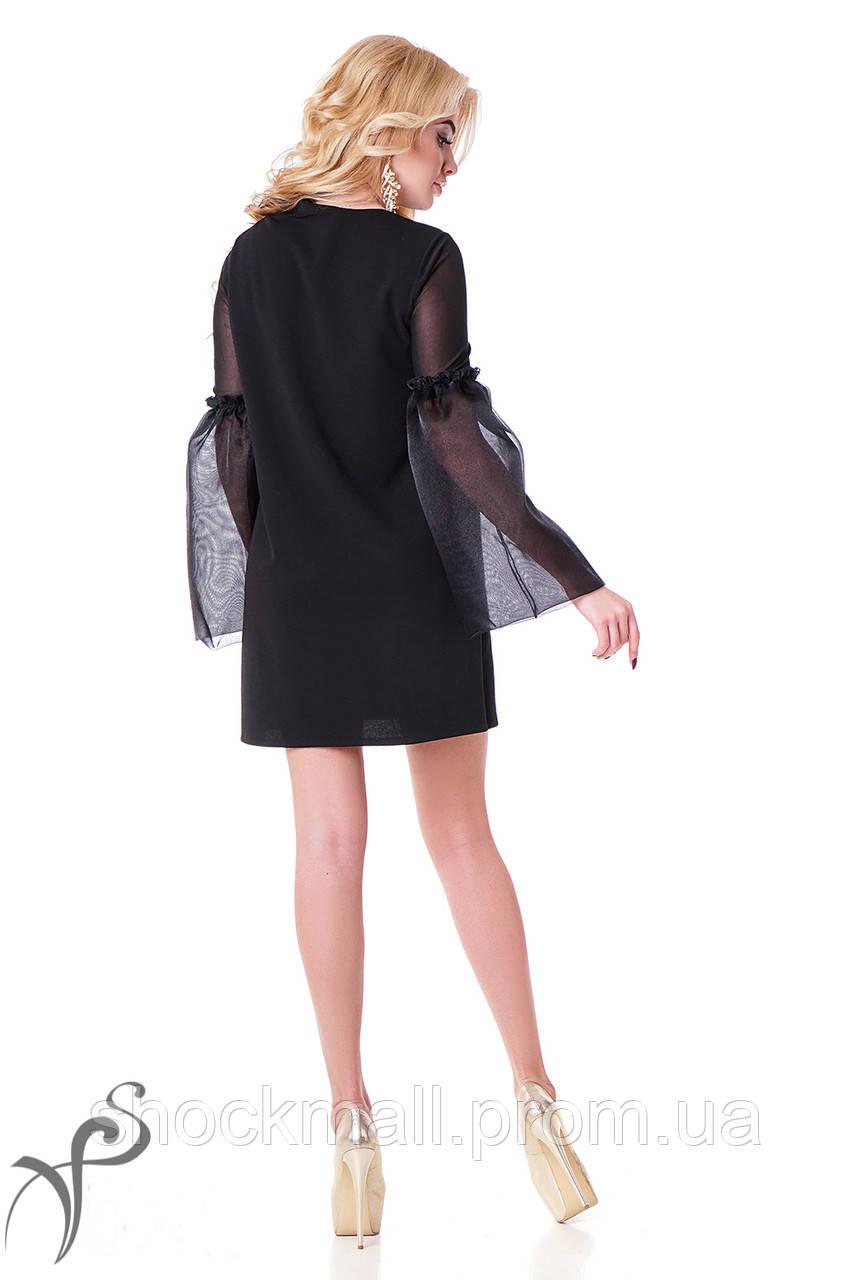 a333f5a24c10f33 ... Маленькое черное платье с прозрачными рукавами