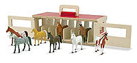Игровой набор Переносная конюшня с лошадками Melissa&Doug (MD13744)