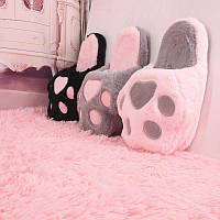 Тапочки домашние, 3 цвета - розовый, серый, черный.