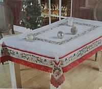 Кухонная скатерть с новогодним рисунком