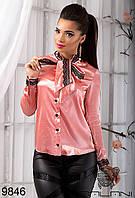 Женская блуза с  кружевом  -  9846 р-р S   M   L  женская одежда со скидкой, Украина