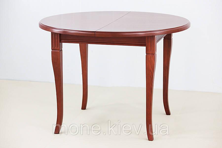 """Круглый стол """"Карлос""""из ясеня 90 см.+30 см. вставка"""