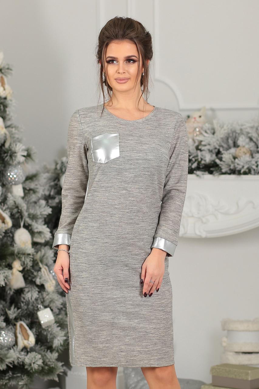 Платье трикотажное Френка в светло-сером цвете - LILIT ODESSA - женская  одежда опт - a14f010b02e