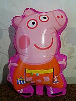 Воздушный шарик Свинка Пеппа розовая