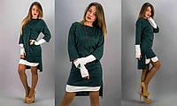Зелёное платье 152065