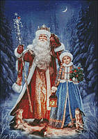 """Схема для вышивания """" Дед Мороз и Снегурочка """""""