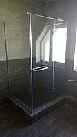 Душевая кабина угловая (крепление двери к стеклу)