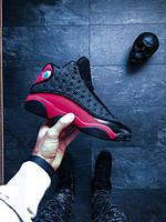Мужские кроссовки Nike Air Jordan 13 Retro (Найк Аир Джордан) черно-красные