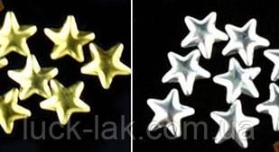 Заклепки для нігтів, зірки, мікс, 25 шт