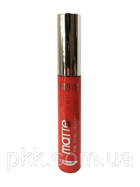 Блеск для губ BLESS BEAUTY COSMETICS MATTE Liquid Pure Stable Cream Lip Gloss матовый стойкий 9 ml.