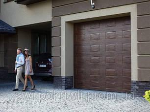 Гаражные секционные ворота Алютех Trend, фото 2