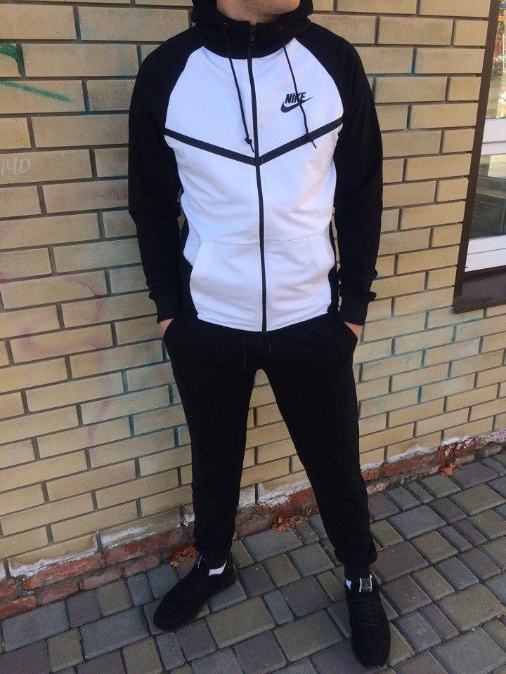 3f31f277 Мужской спортивный костюм Nike черно-белый топ реплика - Интернет-магазин  обуви и одежды