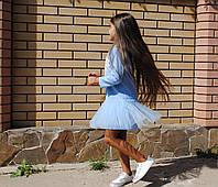 Детское платье нарядное Фрозен голубое (93)