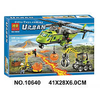 """Конструктор Bela 10640 Urban """"Грузовой вертолёт исследователей вулканов"""" Аналог LEGO City 60123"""