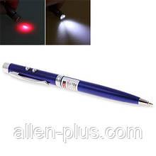 Ручка 3 в 1 - Лазер, Ліхтарик, Ручка. (Ручка друкарська + LED ліхтарик + Лазерна указка)