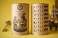 Кофе Бразилия, 100% арабика, зерно/молотый, картонный тубус, 200 г