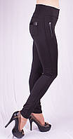 Леггинсы женские с кожаными вставками с утеплителем, размер 40-58, фото 1
