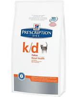 Hills Prescription Diet Kidney Care k/d Chicken Лечебный корм для поддержания функции почек и сердца у кошек