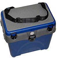 Ящик для зимней рыбалки A-elita с градусником синий