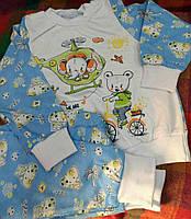 Пижама в слониках и мишках на мальчика  2 года