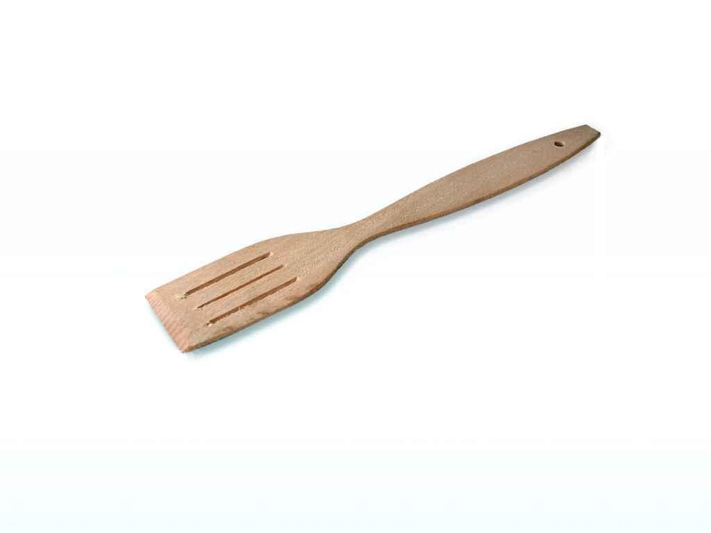 Лопатка деревянная не пропитанная с отверстиями 310*60 мм (бук)