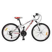 Велосипед спортивный Украина 24 дюйма, бело-красный