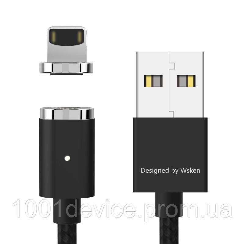 Магнитный кабель WSKEN MINI2 lightning apple Iphone/ipad чёрный