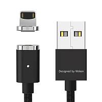 Магнитный кабель WSKEN MINI2 lightning apple Iphone/ipad чёрный, фото 1