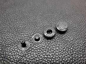 Кнопка металлическая Альфа 12,5мм. Турция цвет черный никель