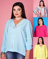 Блуза на молнии большой размер XL+ Carica