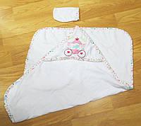 Махровая пеленка для купания детей 90*65/ Полотенце детское