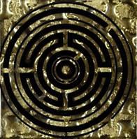 Вставка напольная Grand Kerama Tako 6,6x6,6 лабиринт золото Золотой, 6.6х6.6