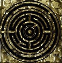 Вставка напольная Grand Kerama Tako 6,6x6,6 лабиринт золото