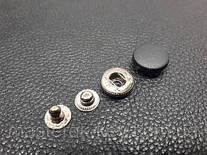 Кнопка пластиковая 15мм. Турция цвет черный (50 шт в упаковке)