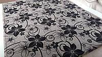 Ткань для обивки дивана рогожка с узором Шервуд сер, фото 1