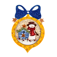 Вышивка Бисером Елочная игрушка для вышивания бисером (фанера) FLE-001 Волшебная страна Украина