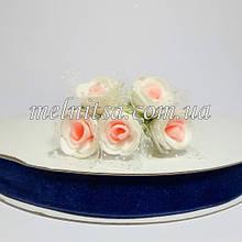 Лента бархатная 2,5 см, цвет синий