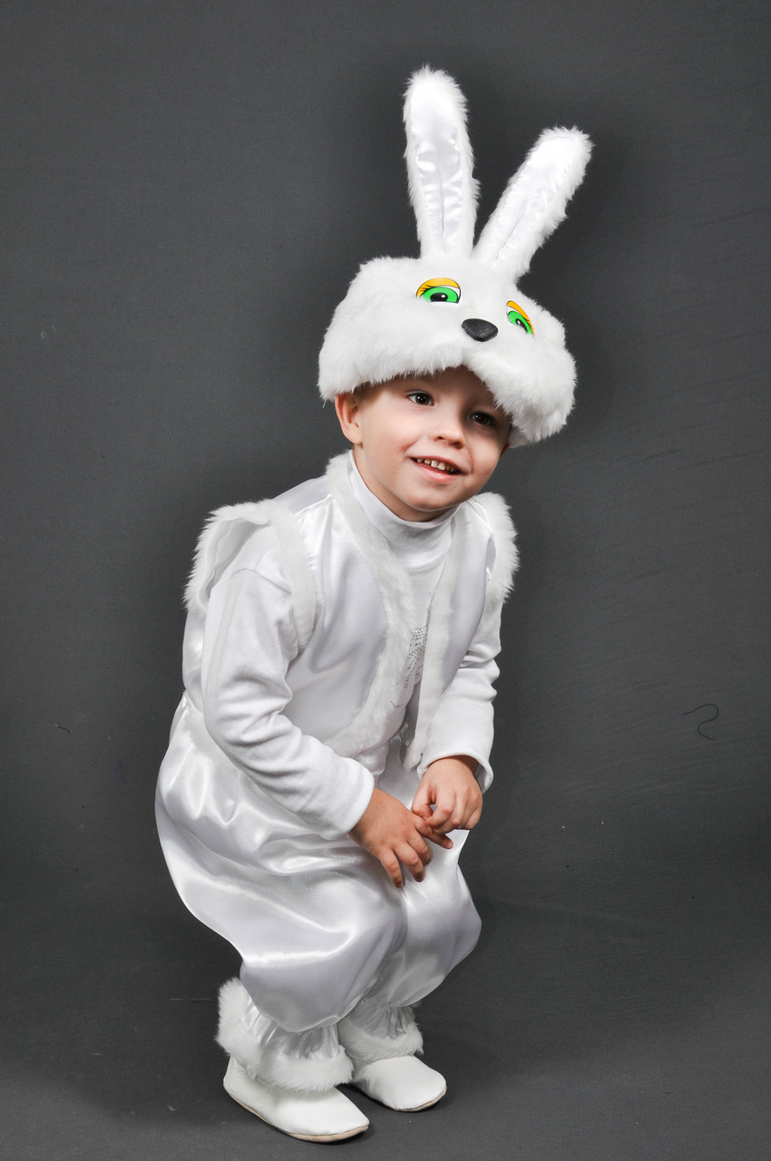 Детский карнавальный костюм ЗАЙЧИК, ЗАЯЦ, ЗАЙКА на 3,4,5,6 лет новогодний маскарадный костюм ЗАЙЧИКА 324